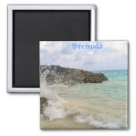 Bermuda Wave Picture by Celeste Sheffey Fridge Magnet