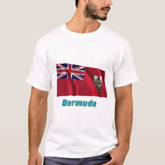 Bermuda Waving Flag with Name T-Shirt