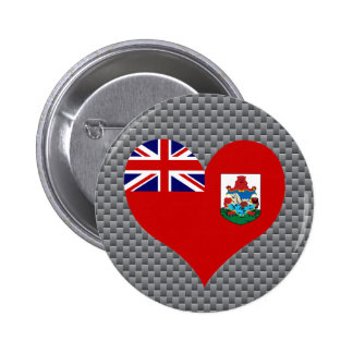 Bermudan Flag on a cloudy background 2 Inch Round Button
