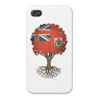 Bermudan Flag Tree of Life Customizable iPhone 4 Cover