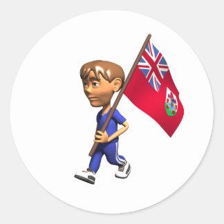 Bermudian Boy Round Sticker