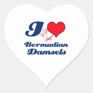 Bermudian design heart sticker