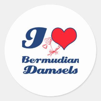 Bermudian design round sticker