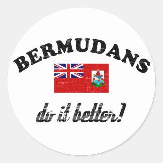 Bermudian do it better round sticker