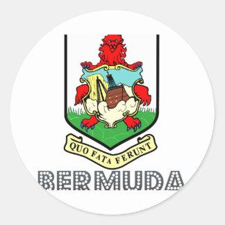 Bermudian Emblem Round Sticker