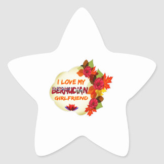 Bermudian Girlfriend Designs Star Sticker