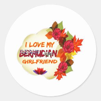 Bermudian Girlfriend Designs Round Stickers