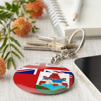Bermudian glossy flag key ring