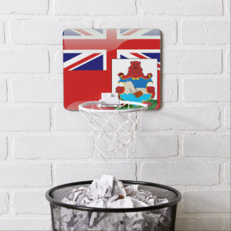 Bermudian glossy flag mini basketball hoop