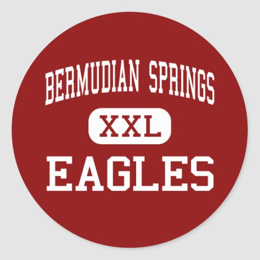 Bermudian Springs - Eagles - Middle - York Springs Round Stickers