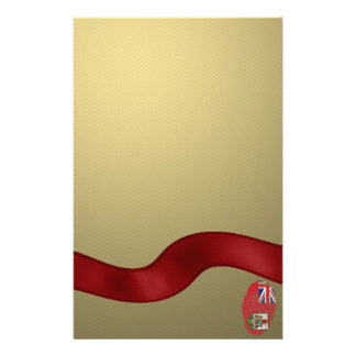 Bermudian touch fingerprint flag personalized stationery