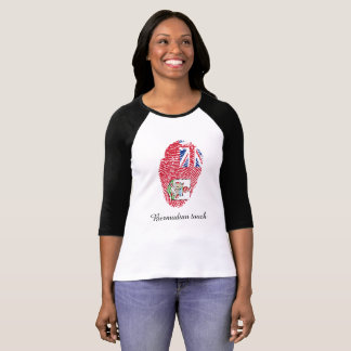 Bermudian touch fingerprint flag T-Shirt