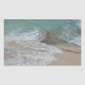 Bermudian Waves Series Rectangle Stickers