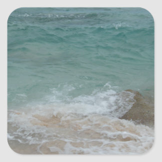 Bermudian Waves Series Square Sticker
