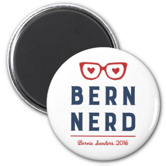 Bern Nerd | Funny Bernie Sanders 6 Cm Round Magnet