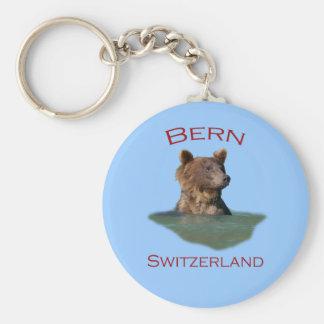 Bern, Switzerland Basic Round Button Key Ring