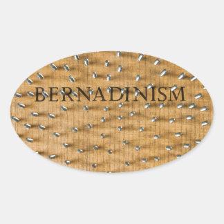 Bernadinism Book of Screws Oval Stickers