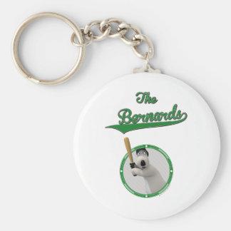 Bernard Bear Baseball Merchandise Basic Round Button Key Ring