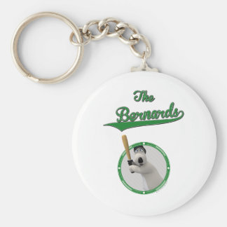 Bernard Bear Baseball Merchandise Key Ring