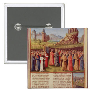 Bernard  of Clairvaux preaching Second Crusade 15 Cm Square Badge