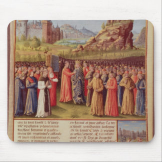 Bernard  of Clairvaux preaching Second Crusade Mouse Mat