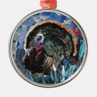 Bernard the Turkey. Original painting by Griff Christmas Ornament