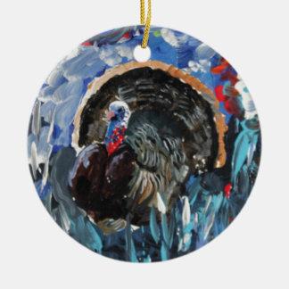 Bernard the Turkey. Original painting by Griff Round Ceramic Decoration
