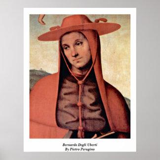 Bernardo Degli Uberti By Pietro Perugino Posters