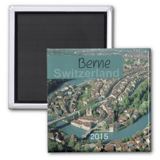 Berne Switzerland Fridge Magnet Change Year