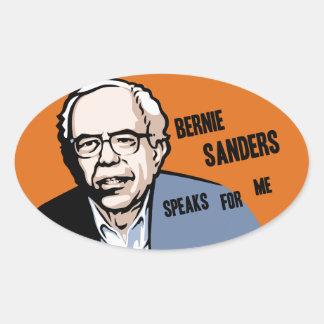 Bernel Sanders Oval Sticker