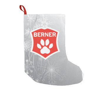 Berner in Snow Christmas Stocking!