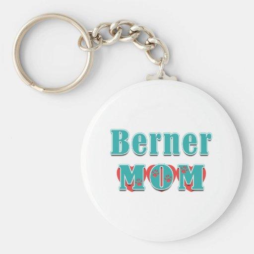 Berner Mom Hearts Keychains