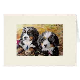 Berner Nation greeting card (blank)