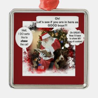 Berners with Santa Christmas Ornament
