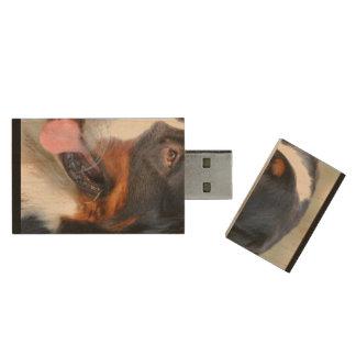 bernese-mountain-dog-10 wood USB 2.0 flash drive