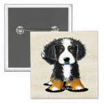 Bernese Mountain Dog 15 Cm Square Badge