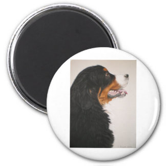 Bernese Mountain Dog 2 6 Cm Round Magnet