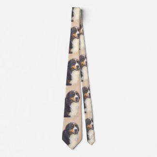Bernese Mountain Dog 2 Painting - Original Dog Art Tie