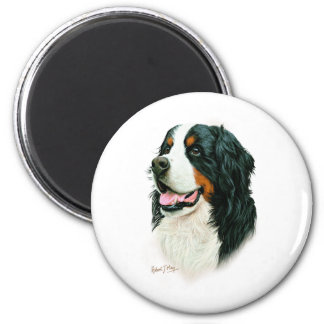 Bernese Mountain Dog 6 Cm Round Magnet