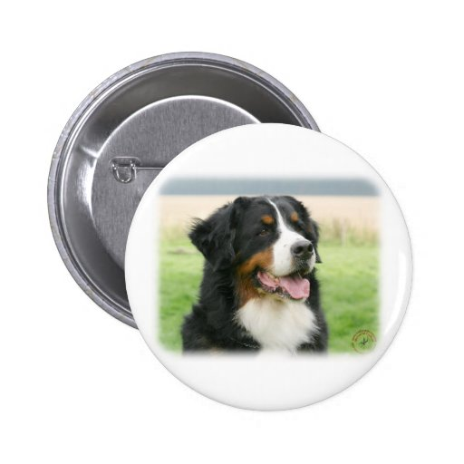 Bernese Mountain Dog 9Y066D-046 6 Cm Round Badge