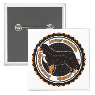 Bernese Mountain Dog 15 Cm Square Badge