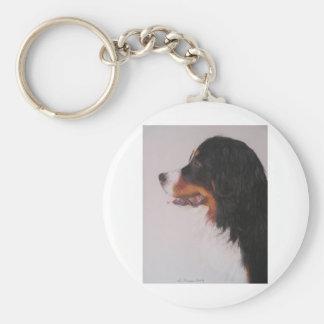 Bernese Mountain Dog Basic Round Button Key Ring