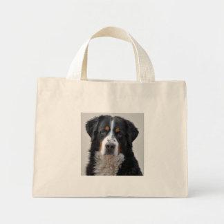 Bernese Mountain dog beautiful photo, gift Canvas Bags