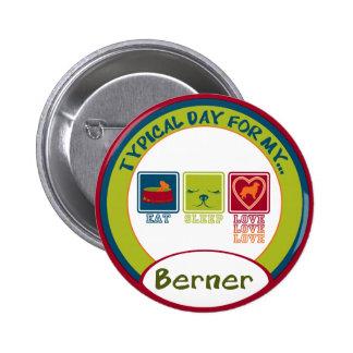 Bernese Mountain Dog [Berner] 6 Cm Round Badge