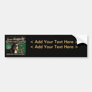 Bernese Mountain Dog Brand – Organic Coffee Compan Bumper Sticker