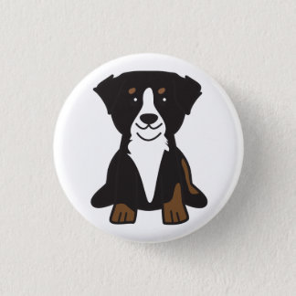 Bernese Mountain Dog Cartoon 3 Cm Round Badge