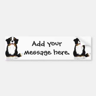 Bernese Mountain Dog Cartoon Bumper Sticker