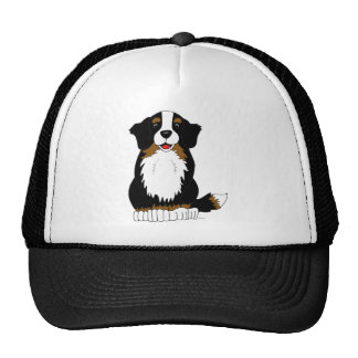 Bernese Mountain Dog Cartoon Cap