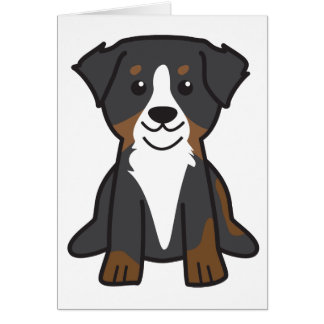 Bernese Mountain Dog Cartoon Card