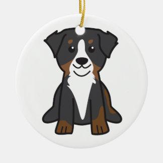 Bernese Mountain Dog Cartoon Christmas Ornament